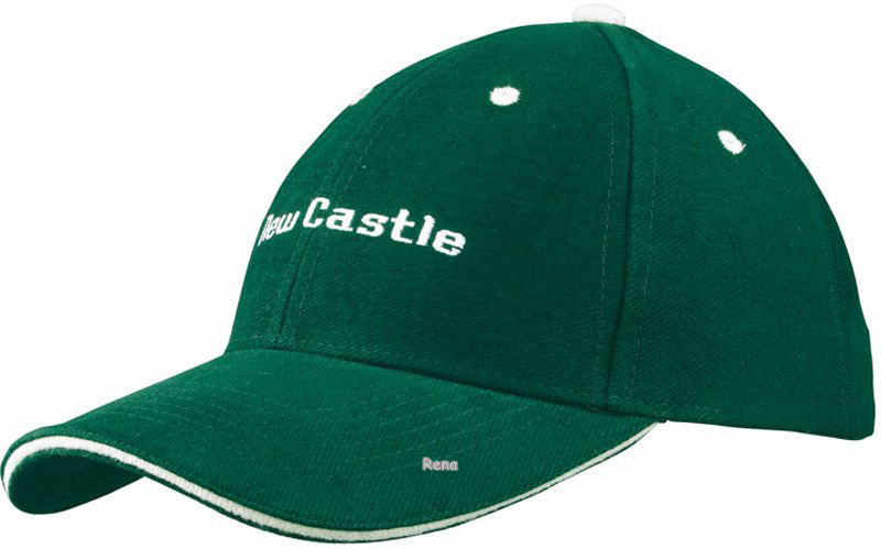 bf19676dac0 Zelená šestidílná keprová baseballová čepice